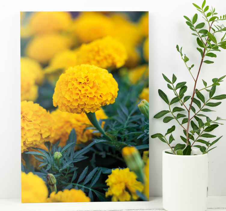 TenStickers. 3D rama flores naranjas 3D wall art prints. Beautiful decoration canvas for home and common areas such as living room, living room, office, living room, guest area, etc