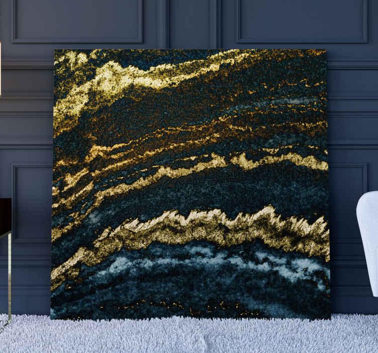 TenStickers. Quadro em 3D Ouro moderno 3d. Impressões em tela 3d de ouro moderno para completar a decoração da sua casa com um belo toque de abstrato. é original, duradouro e impresso com acabamento de qualidade.