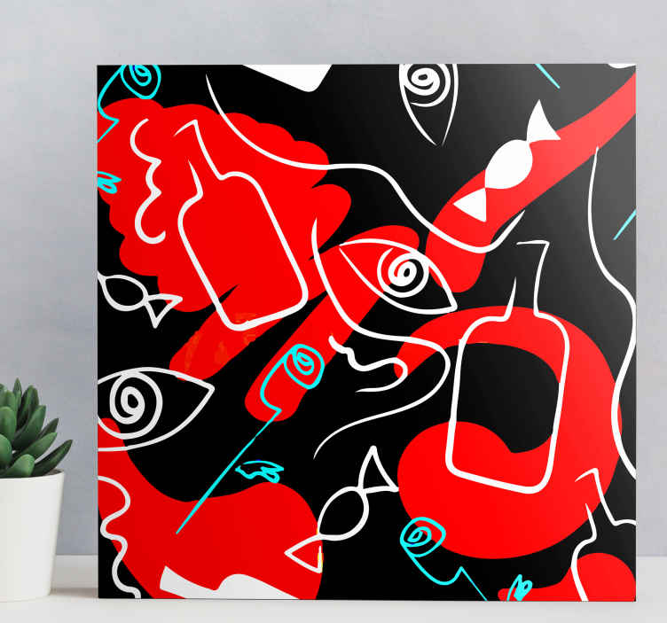 TenStickers. Modern Abstract canvas art. An amazing modern canvas wall print to help you celebrate your home with. Sign up today for 10% off your first order with us!