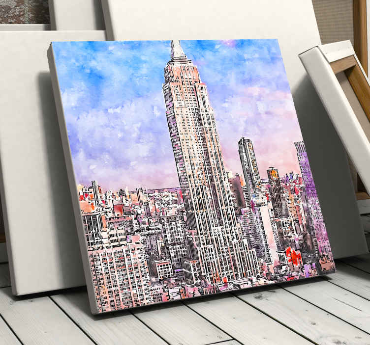 TenStickers. Ciudades New York City skyline prints. This canvas will immerse you in New York City! Thanks to this canvas of the splendid city of New York, your home will look great in your home!