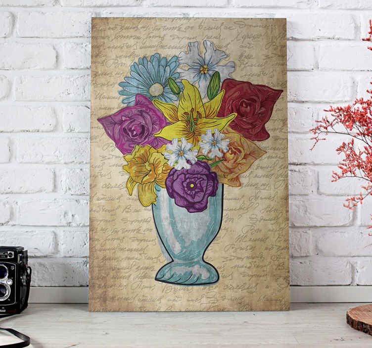 TenStickers. Vase of Flowers sophisticated canvas prints. Super amazing elegant floral canvas wall art that will add so much character to your home. Many discounts available online.