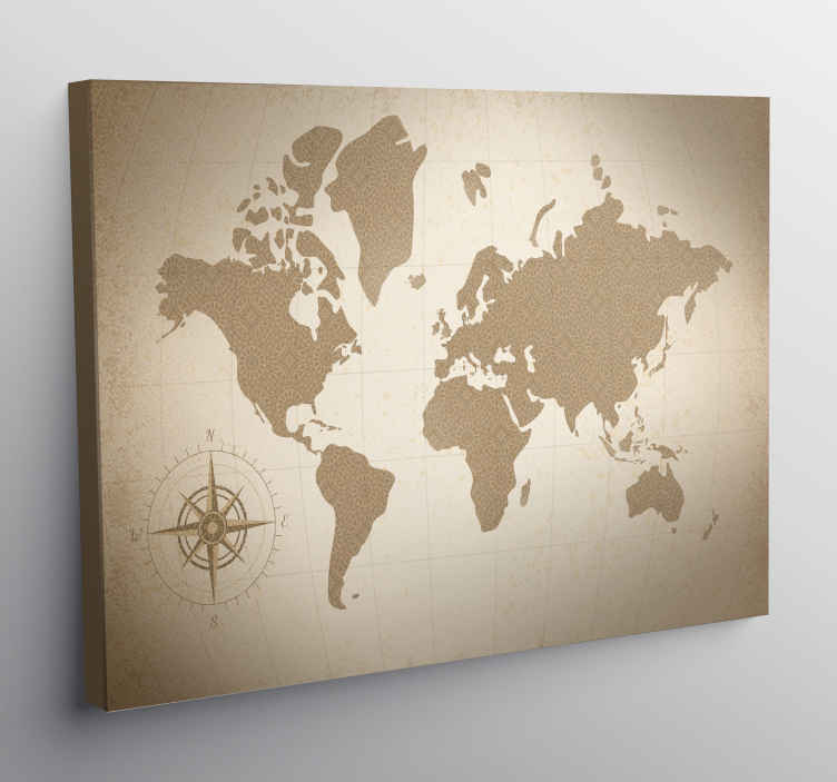 TenStickers. Elegant world map canvas prints. Give your home a unique look with this amazingly beautiful world map canvas which we believe will look great in your home!