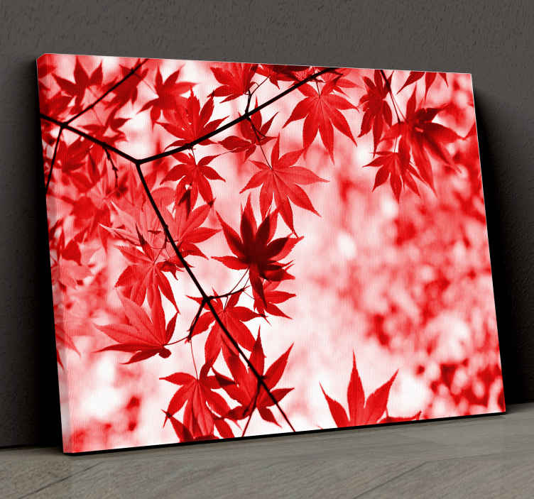 TenStickers. Red Leaf Tree canvas print. Decorate your home with this amazingly beautiful floral canvas that we believe will look great in your kitchen! Home delivery !