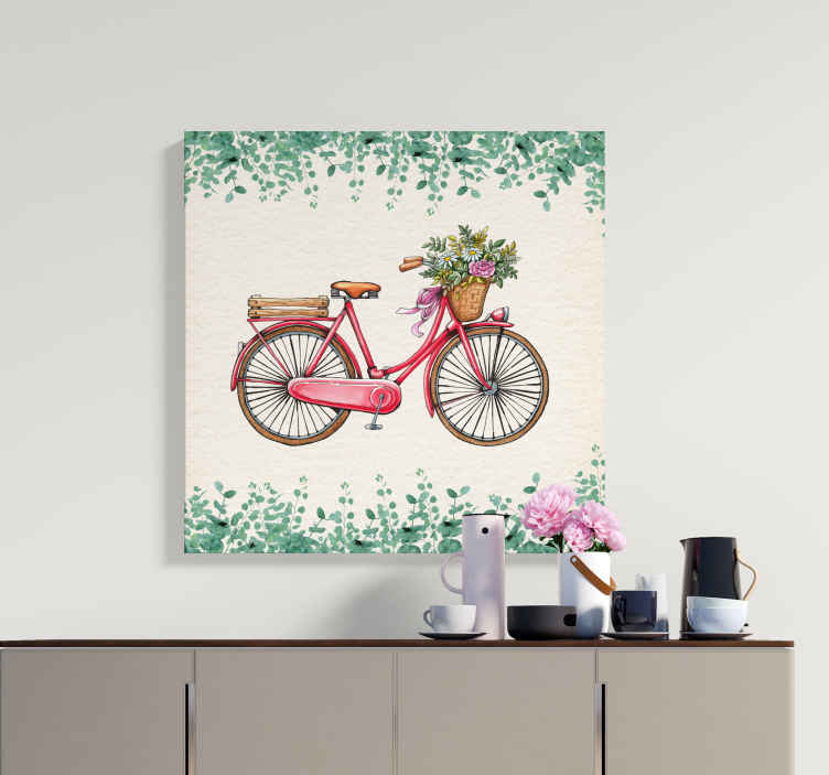 TenStickers. Rustic vintage bicycle rustic canvas wall art. Rustic vintage bicycle canvas art to decorate any room in the home. A canvas design print for lovers of bicycle, it is printed in high quality finish.