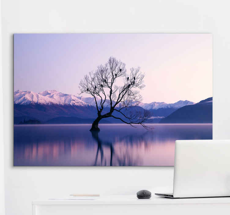 TenStickers. silence in the mountain landscape wall art. Order this amazing design today and it  will really make the rooms in your home shine and bring more nature to your home . Home delivery !