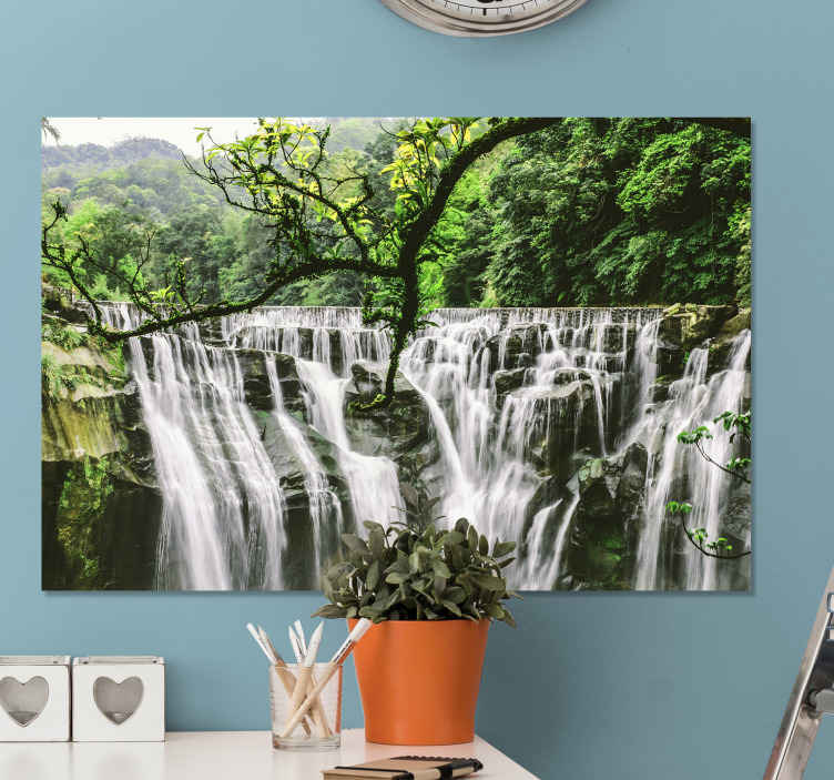 TenStickers. Water element landscape wall art. Imagine the atmosphere this peaceful nature landscape canvas print would bring to your home. Made with quality material and durable.