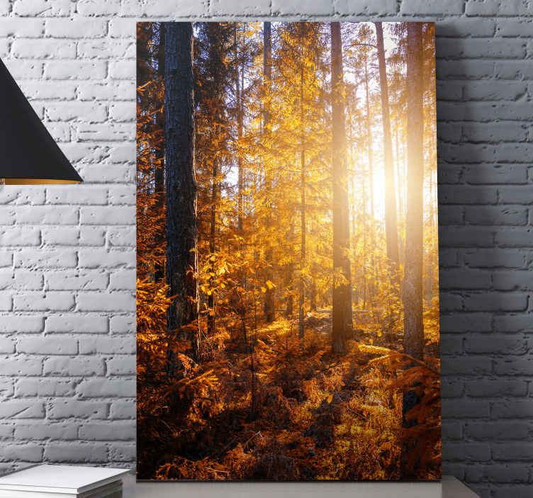 TenStickers. forest sun trees landscape wall art. All your guests will be amazed and you will be able to proudly show off your new decoration that everyone will envy you.