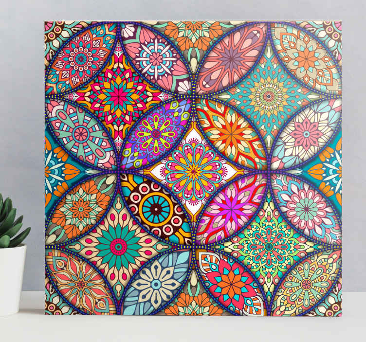 TenStickers. Colorful mandalas master bedroom canvas wall art. Colorful mandalas canvas wall art to decorate any space with a brilliant and more ethical; art look. It is durable and original.