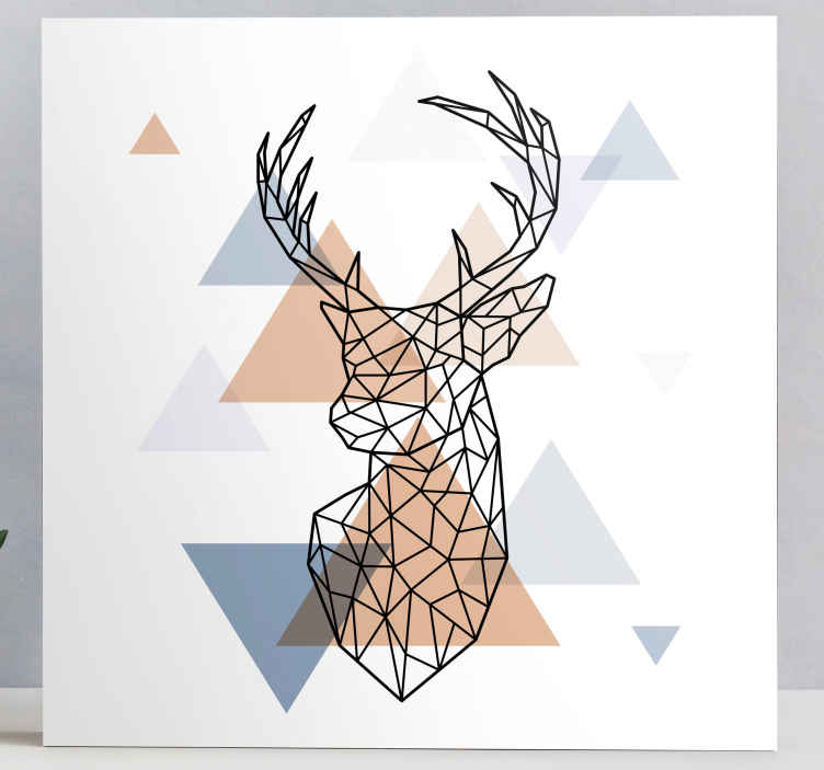 TenStickers. Origami deer animal canvas print. This beautiful origami animal canvas print is an ideal piece to go on any wall in your home! Gift it to a friend and they surely will love it!