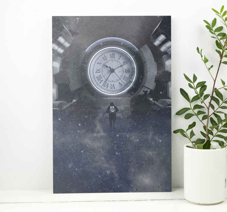 TenStickers. Time and space canvas art. Time and space canvas art prints. Decorate any space with this home canvas print to present it with a touch of elegance. Original and durable.