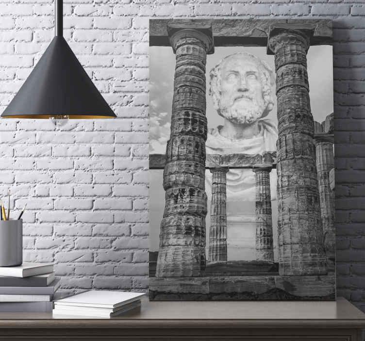 TenStickers. 古代神话帆布艺术. 有了这张古老的神话般的画布艺术版画,您的空间就会成为一个小小的吸引力中心。印刷质量高,经久耐用。
