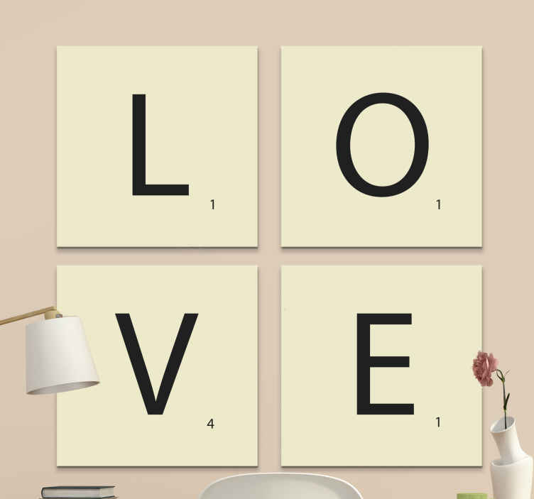 TenStickers. decorative letters love Letter Canvas wall art. here we have a great solution for you: our alphabet and letter canvas wall art.  All you need to do is just add this product to your cart!