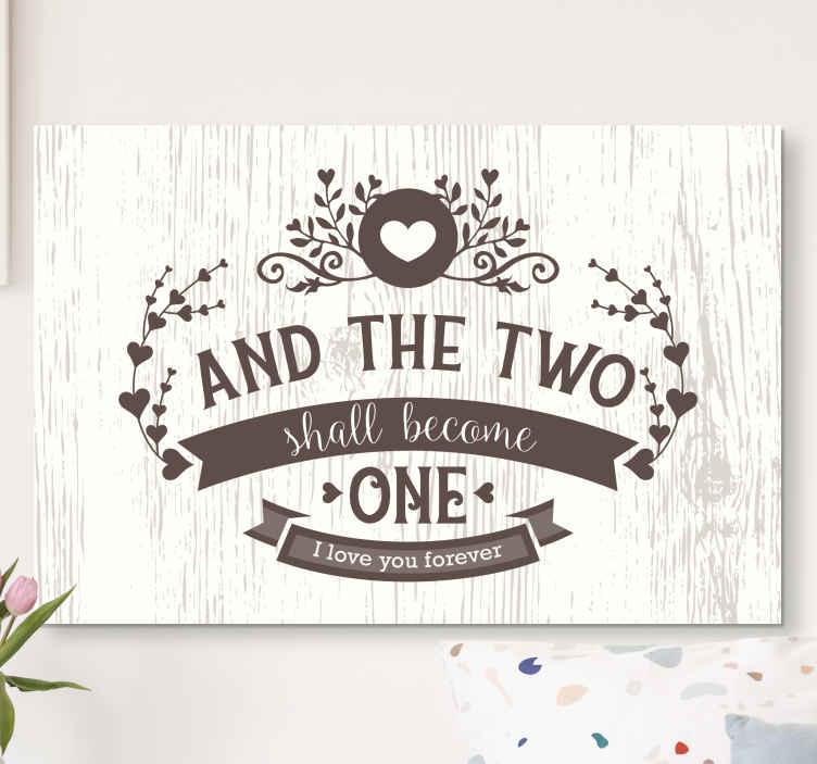 Tenstickers. Vintage sovrum citat duk konst. Vår vintage sovrum äktenskap citat duk konst fick dig täckt för ditt äktenskapliga sovrum utrymme. Texten lyder '' och de två ska bli en ''.