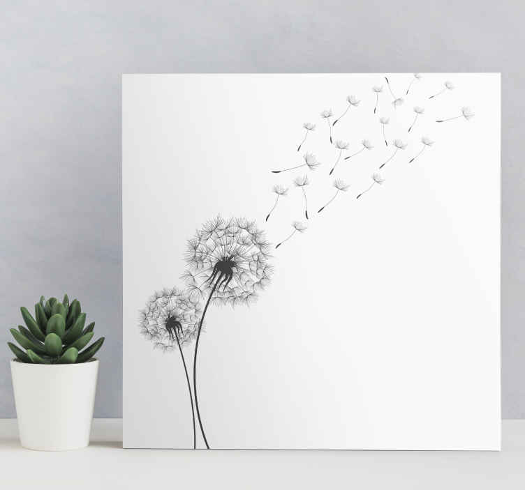 TenStickers. Dandelion bedroom canvas art. Simple but elegant Dandelion canvas wall prints to present your space with a touch of class. Perfect canvas for living room, bedroom and other spaces.