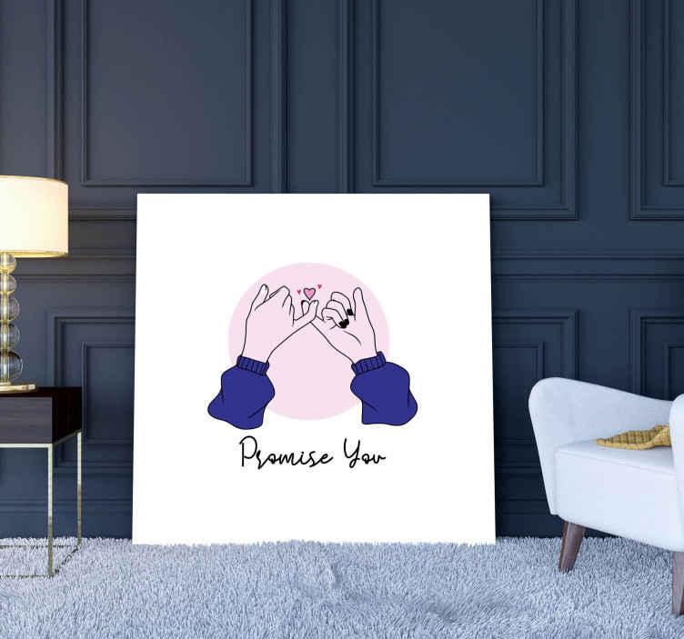Tenstickers. Holder hender hall lerretstrykk. Kjærlighet love hender hjem lerret. Du kan dekorere hvilken som helst plass i huset ditt eller på kontoret med denne enkle kjærlighetsdekorasjonen.