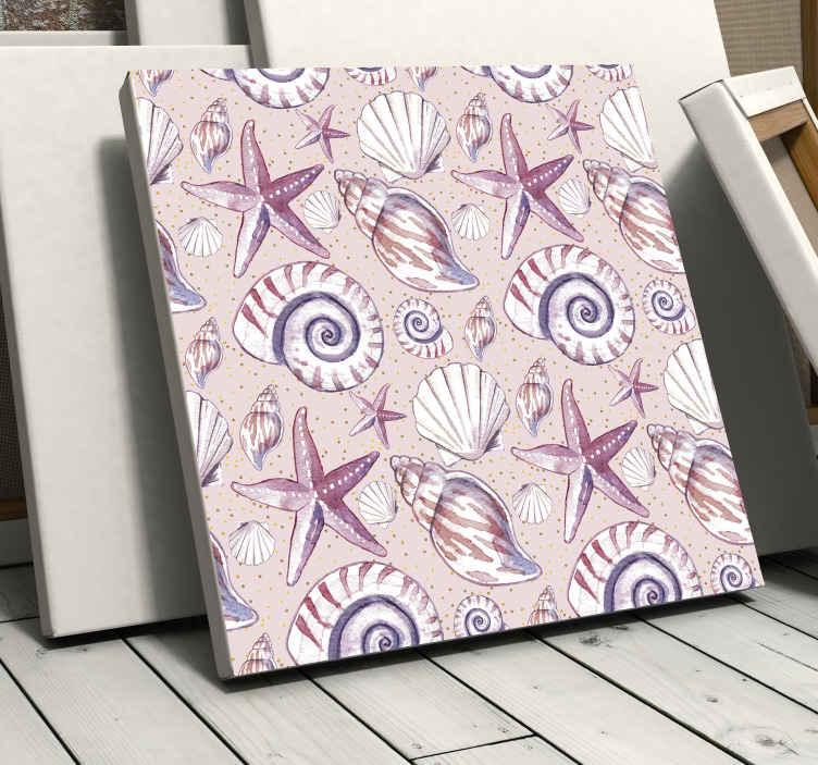 TenStickers. Dieren schilderij op canvas Zeeleven. Zeeleven canvasafdrukken - erg mooi en rustgevend om de uitstraling van uw ruimte te verbeteren. Wacht niet langer en bestel hem nu!
