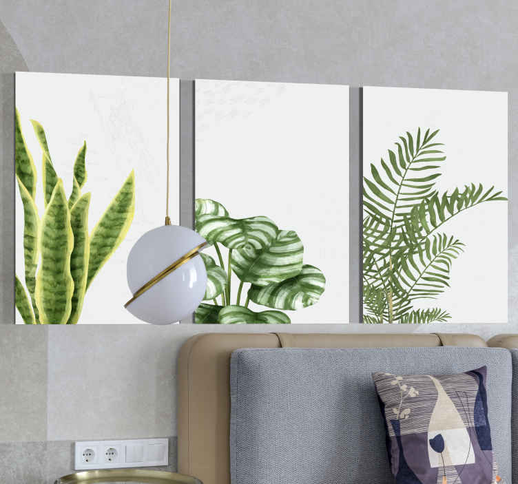 TenStickers. Different monster plants Plant wall prints. Bring that soothing and calming elegant presence on your space with this different monster plants  canvas prints.  Durable and easy to hang.