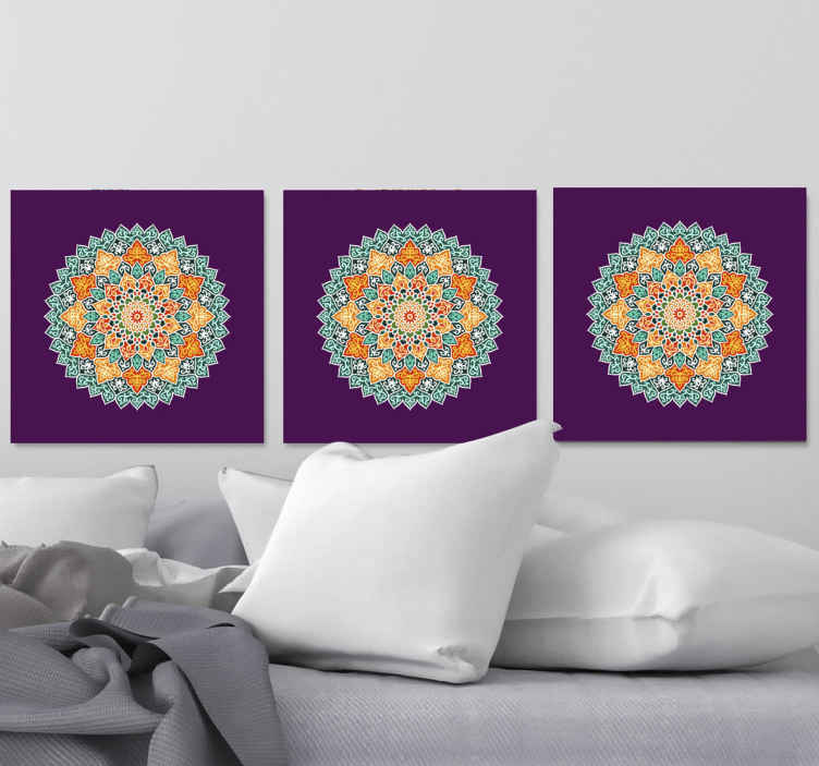 TenStickers. Mandala headboard wall art canvas. Decorate your home or any space with the luxury look it deserve with our sets of mandala canvas prints. Made of quality and durable.