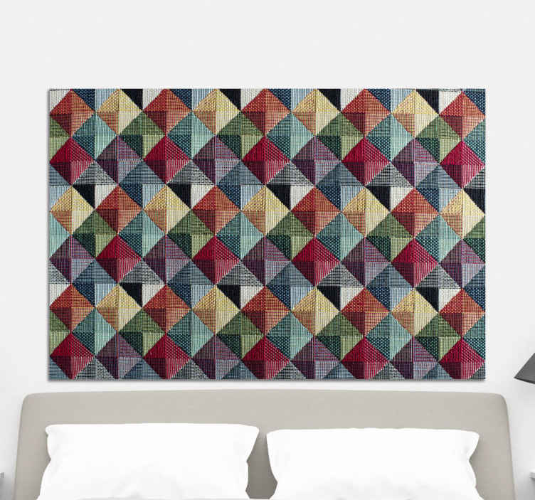 TenStickers. Geometric forms headboard wall art canvas. Geometric forms headboard canvas print - It can also be decorated on any other space in a house and for an office space. Our canvas art are original.