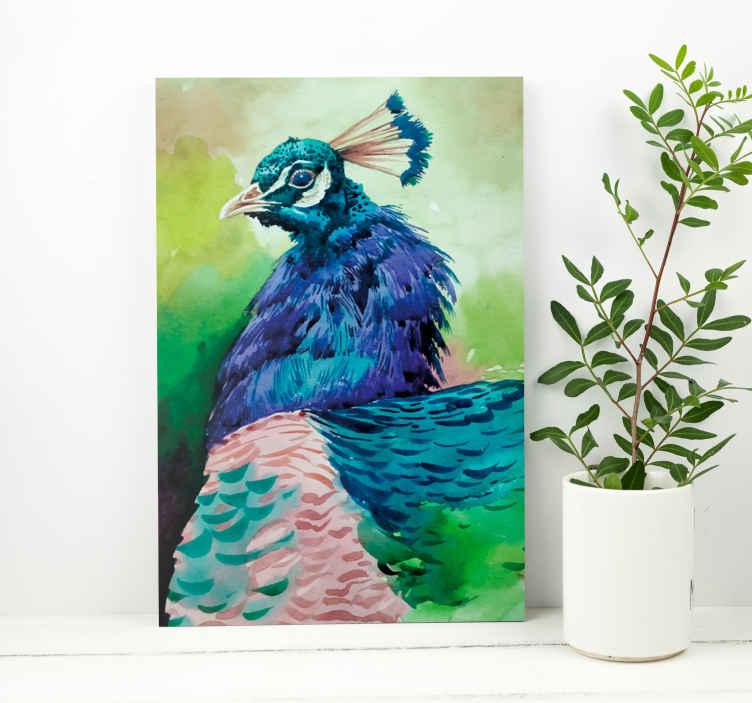 Image of Dipinto con uccelli Uccelli colorati di tacchino