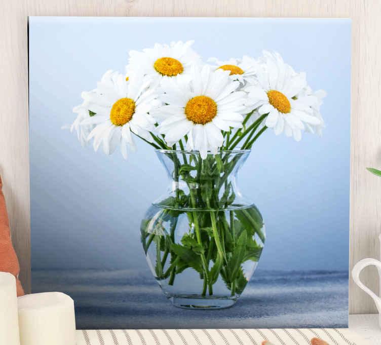 Image of Quadro fiori Fiori di margherita in vasi di vetro