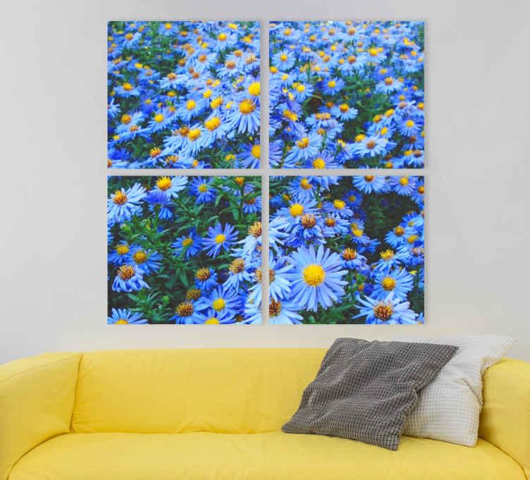 Image of Quadro fiori Fiori di margherita blu