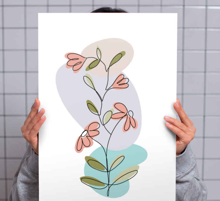 Image of Quadro fiori Design minimalista con fiori margherita