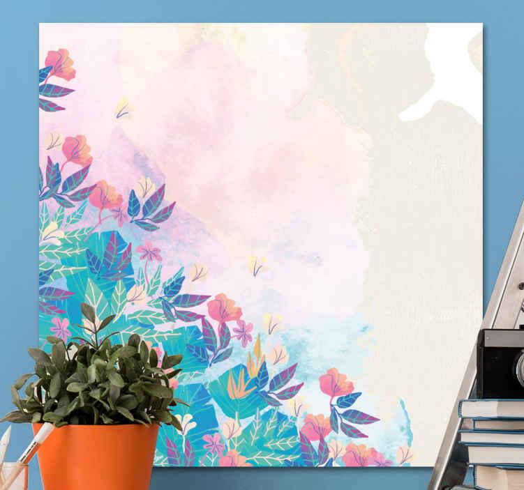Image of Quadro fiori Fiori colorati dipinti