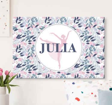 Linda tela floral personalizada para parede. Este design é incrível e você definitivamente adoraria a imagem em seu espaço de parede.