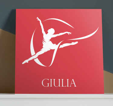 With our personalized gymnast silhouette canvas you can express your passion for gymnastic in our design. Original and made of best quality.
