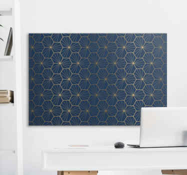 Geometric canvas wall art to add and elegant and modern touch to the walls of your home. Extremely long-lasting material.