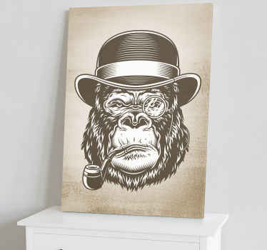 Monkey smoking modern canvas wall art for your home. Add a touch of art on your space with our high quality home canvas prints.