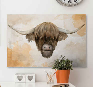 The best highland cattle animal wall art canvas for you home to give a modern look. Discounts available now on our website.