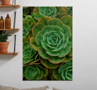 Realistic looking cactus flower canvas wall art. Beautiful canvas for a living room, though you can also hang it on other areas in your home.