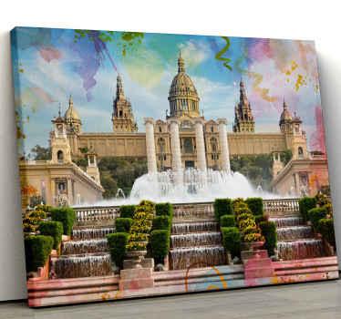 美丽的装饰使房屋变得美丽而舒适。我们的顶级家用画布上印有巴塞罗那蒙特惠克市的图片。