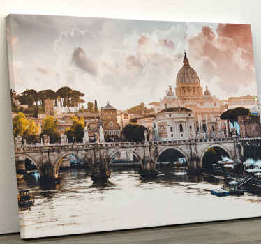 Buy this magnificent canvas wall art for living room of Rome this ancient city and let its beauty touch you.. Home delivery!