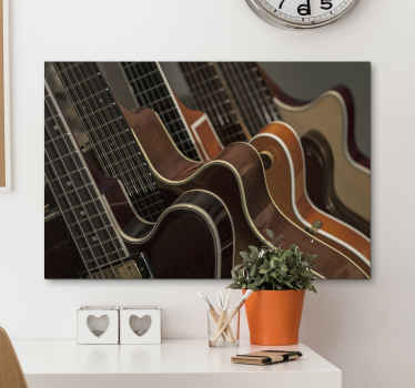 Lovely musical canvas print hosting design of a guitar. You would love this canvas especially as a music lover and enthusiast.