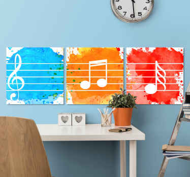 Let your passion for music express itself with this music canvas art, you will give a unique style to your room with this impression of musical note