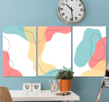 Redecorate your space with a lovely and adorable effective appearance with this abstract Nordic Scandinavian canvas prints.