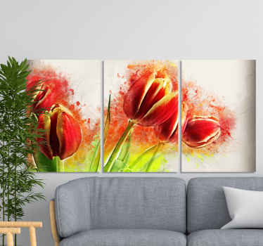 Modern abstract flowers modern canvas  prints. Suitable to decorate a living room to present it with a luxury appearance.