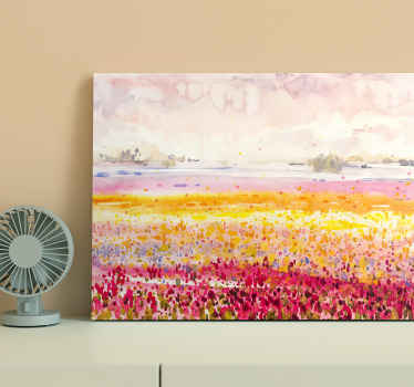 Modern colorful landscape modern canvas art to decorate your home in a lovely way. It is original, durable and and printed in high quality finish.
