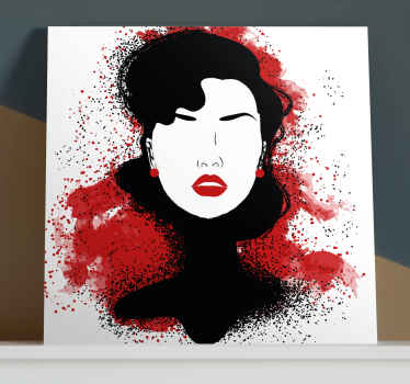 Modern women modern canvas wall art for aesthetic art lovers. The design can be customized in the colour effect you want. Quality finish and durable.