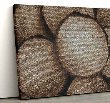 The perfect wood design mosaic canvas print to adorn the walls of your home with. Sign up now for 10% off your first order.