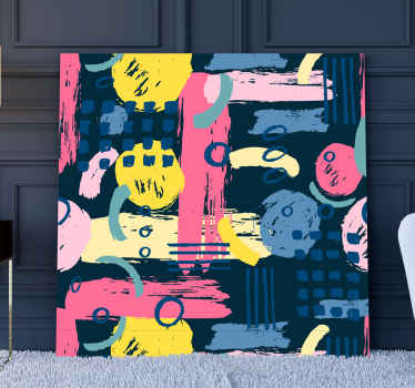 Colorful abstract abstract canvas wall art just adorable to decorate children bedroom or space. The canvas is printed with high definition finish.
