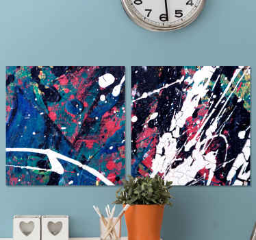 Abstract contemporary art canvas wall art.  This canvas fit to decorate a living room, bedroom, office and guest space. Original and durable.