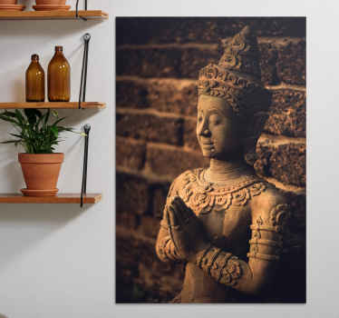 Buddha figure canvas wall art. Lovely bhuda artwork canvas for home  and other places decoration. It is printed in high quality finish.