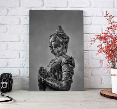 A decoration home canvas print for religious minds. The canvas artwork contains the design of bhuda! a philosopher, mendicant, mentor of the bhudist .