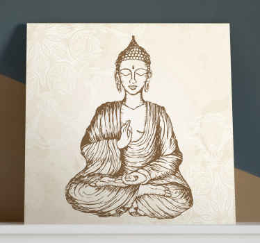 Buda vintage floral canvas to decorate any part of your home. The painting can be decorated in a living room, bedroom, yoga or other rooms.