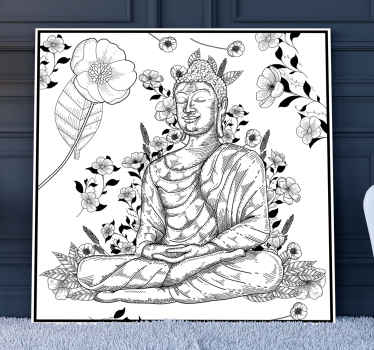 Here it comes, a Budas black and white canvas. This will for sure decorate your room perfectly and you will love it and buy it immidiately.
