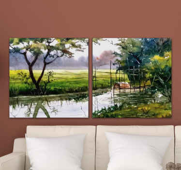 Natural landscape canvas print to decorate any part of your home. You would love this canvas on your space and it is original and durable.